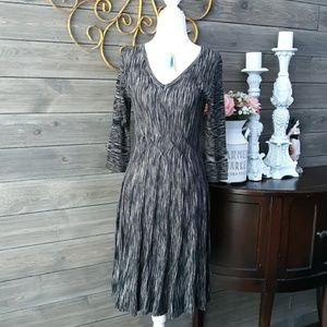 CONNECTED APPAREL ❤ FIT & FLARE SWEATER DRESS